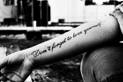 arm, black, dark, ink, inspiration, quote, tattoo, white