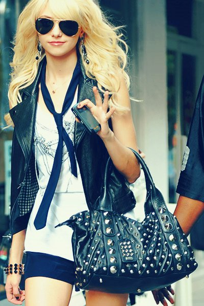 aviators, bag, blonde, curls, girl