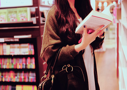 bag, book, bookshop, fashion, girl