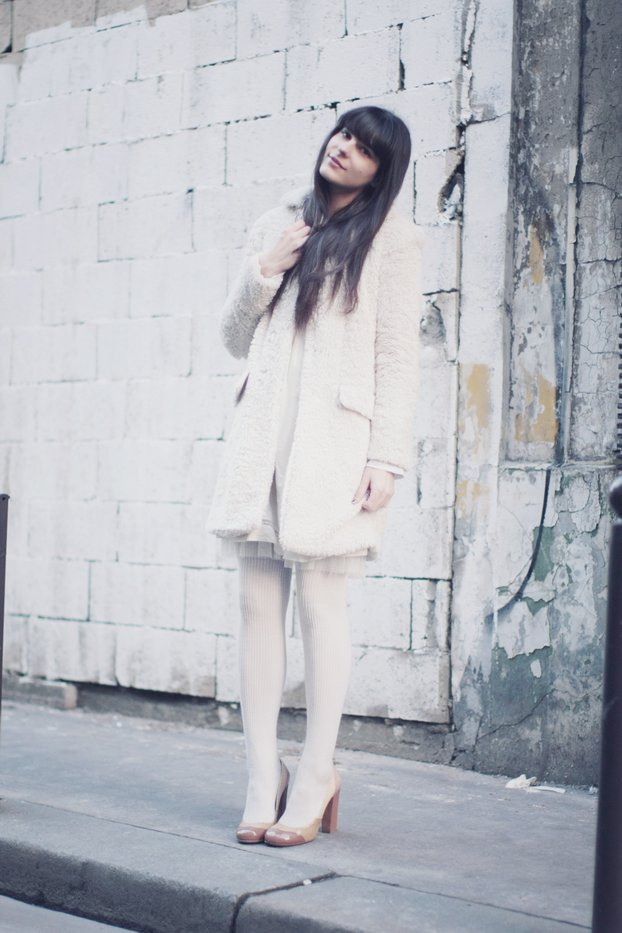 bangs, brown, coat, fashion, girl