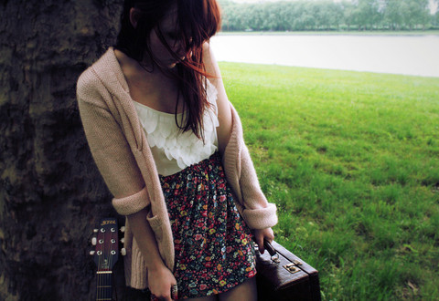 beatiful, cute, fashion, flowers, girl