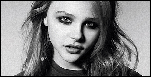 beautiful, black and white, chloe moretz, eyes, girl