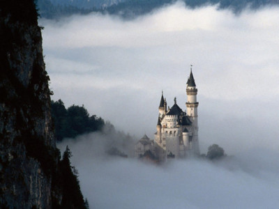 beautiful, castle, cinderella, cute, fog
