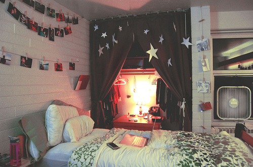 Bed colorful cute decoration girly image 176047 on for Cute girly rooms