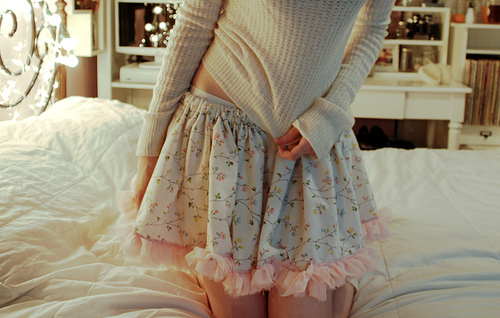 bed, fashion, floral, flowers, girly