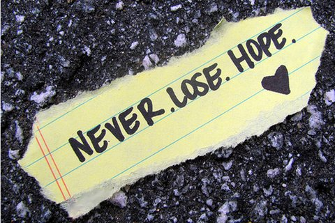 Never. Lose. Hope