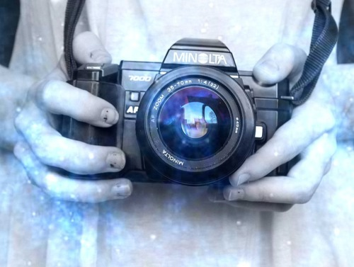 black, blue, camera, camera lens, fashion