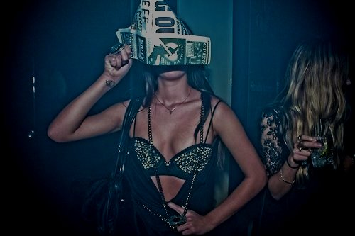 black, bra, fashion, girl, party