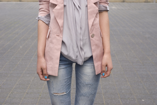 blazer, fashion, jeans