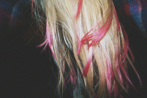 blond, blonde, blondie, fashion, hair, hair stripes, pastell, pink, pink hair stripes, pink stripes, stripes, vintage