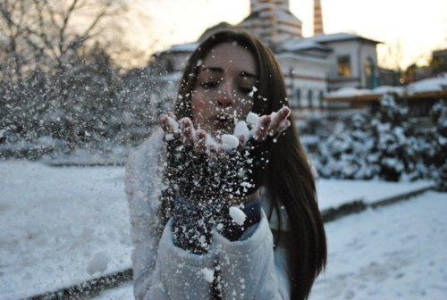 blow, cold, girl, hair, house