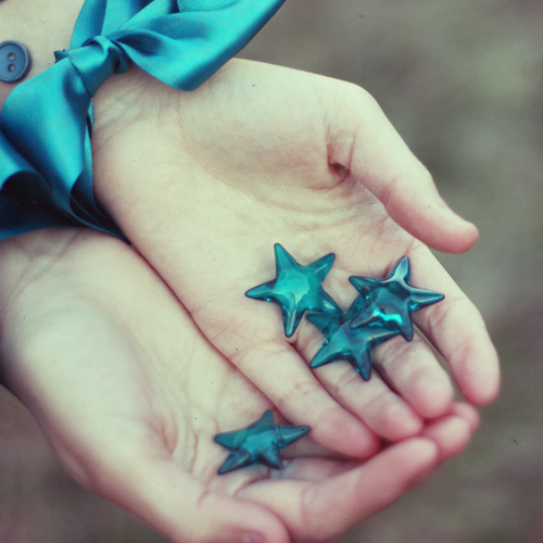 blue, bow, colorful, cute, girl, girly, hands, stars