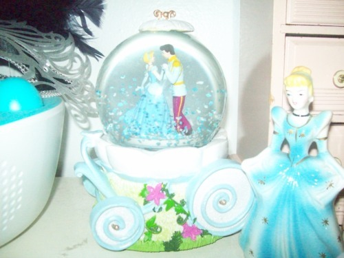 blue, cinderella, disney, feathers, figurine