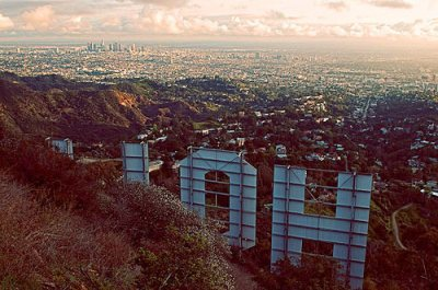 california, hollywood, los angeles, view