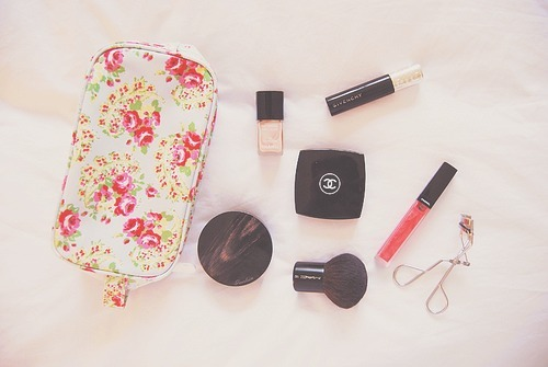 chanel, cute, eye lash curler, fashion, floral
