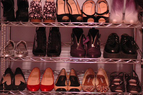 closet, fashion, flats, heels, louboutin, sandals, shoes