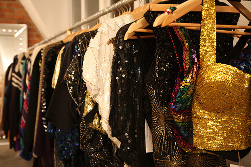 clothes, fashion, glitter, glittery, gold