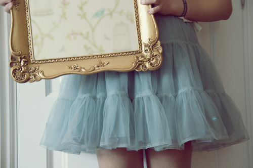 colorful, cute, fashion, frame, girly, mirror, skirt