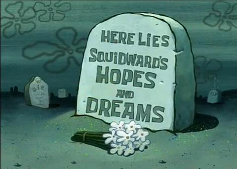 death, dreams, flowers, hopes, lol, spongebob, squidward, whimsical