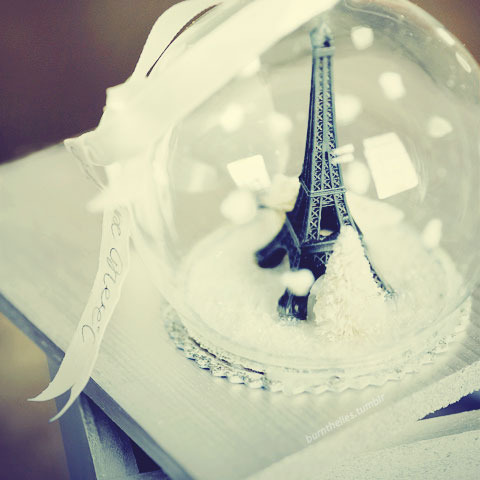 eiffel tower, paris, snow globe