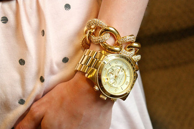 Girls Golden Watches