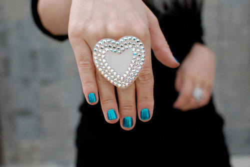 fat, girl, hand, heart, nailpolish, nails, ring