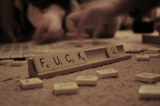 fuck, photography, scrabble