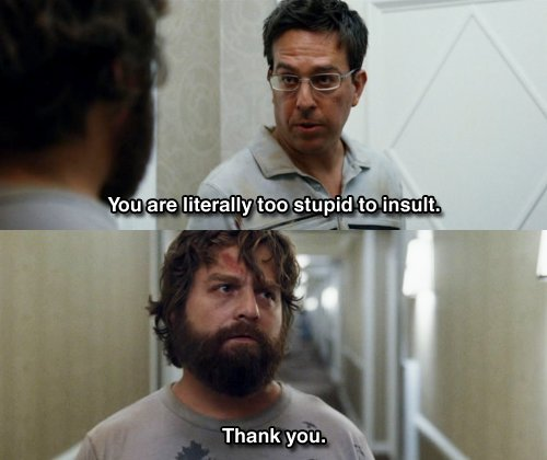 Funny Hang Over Hangover Movie Quote