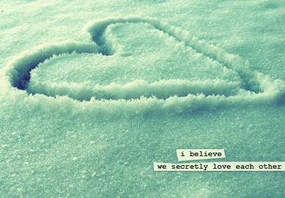 heart, love, secret, snow