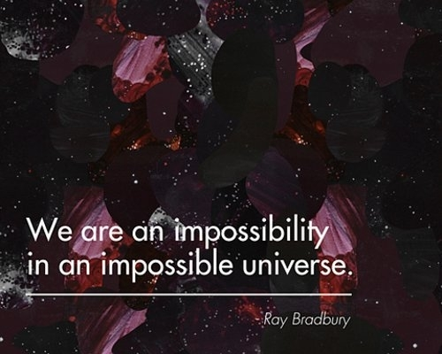 impossible, quote, ray bradbury, text, universe