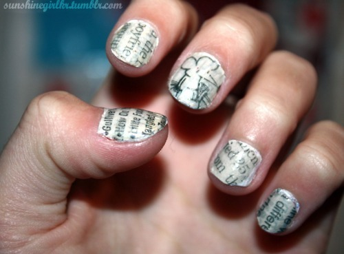 nails, newspaper, photography, pretty