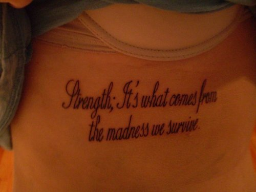 quote, strength, survive, tattoo