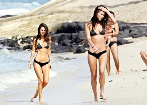 abs, beach, bikini, magrela, megan fox