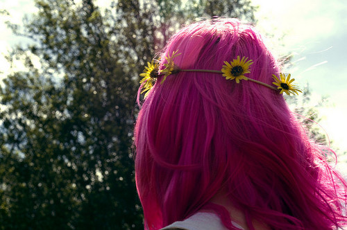 alternative, badass, bokeh, color, colored hair