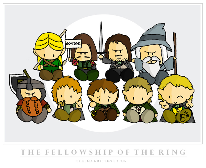 aragorn, boromir, cute, fellowship, fellowship of the ring