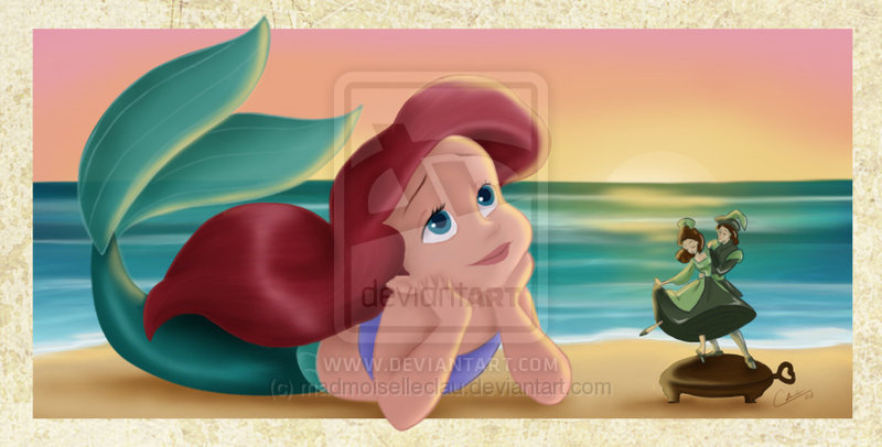 ariel, child, cute, disney princess, draw