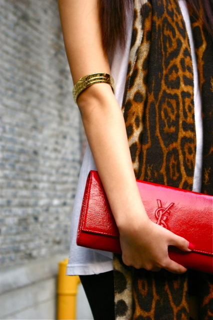 arm, bag, bangle, leopard print, purse