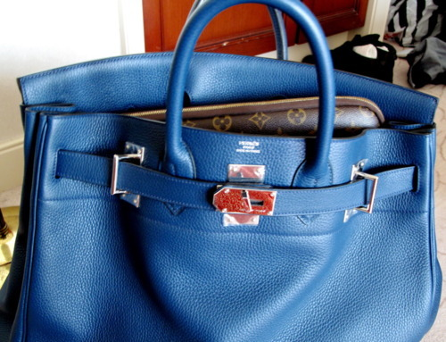 bag, birkin, blue, hermes, leather