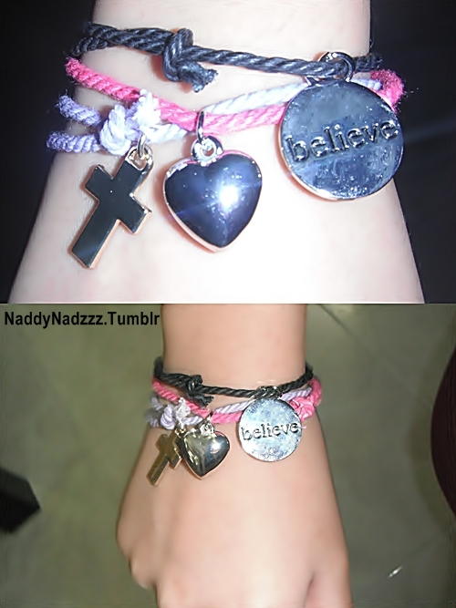 bangle, believe, black, cross, fashion