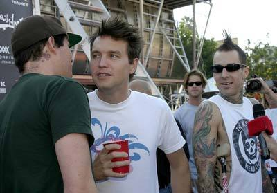 blink, blink 182, mark hoppus, tattoos, tom delonge, travis barker