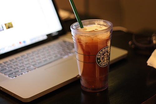 coffe, coffee, cute, macbook, notebook, pccc, smemo, smemoranda, starbucks, strarbuksss, yummy