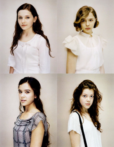 abigail breslin, actress, chloe moretz, georgie henley, hailee steinfeld