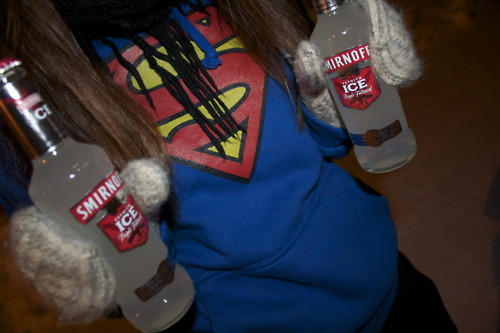 alcohol, girl, hair, scarf, smirnoff