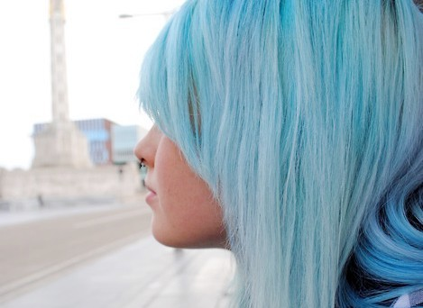 alone, amazing, blue, girl, hair