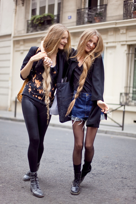 amanda norgaard, boots, braid, denim, fashion, girl, long hair, model, skinny