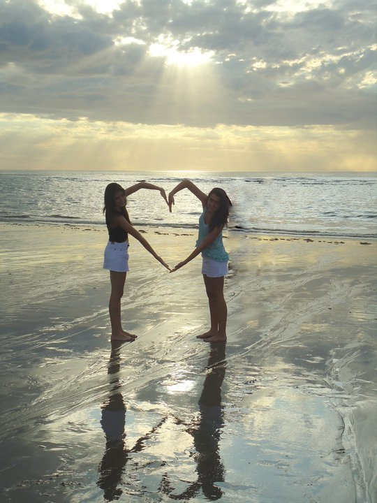 amigas, beach, bff, corazon, friends