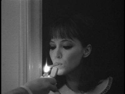 anna karina, beautiful, black and white, cigarette, collar