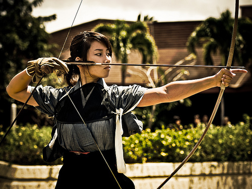 archery, arrow, asian, bow, sport, traditional