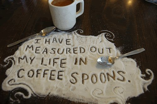 art, coffee, cute, life, love, measure, quote, seasons, spoon, sugar