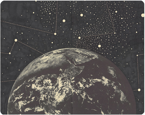 art, constellations, earth, solar system, space